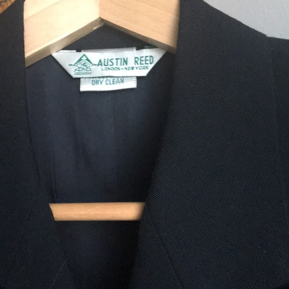 Austin Reed Jackets Coats Austin Reed Vintg Womens Black Wool Blazer Small Poshmark